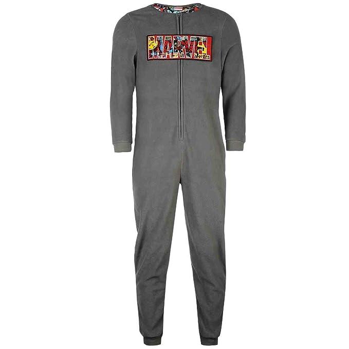Marvel, - Pijama de una Pieza - para Hombre Gris Gris Medium