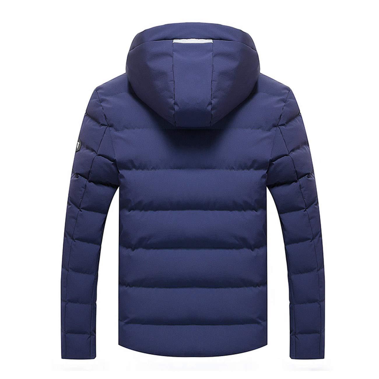 Mens Outdoor Parka Zipeer Warm Thicken Winter Cotton Jacket Coat