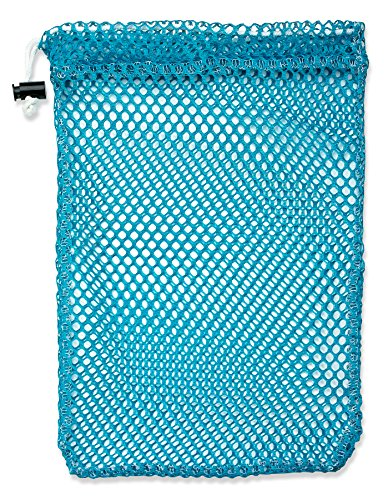 "Mesh Stuff Bag - 7"" x 10"" - Durable Mesh Bag with Sliding Drawstring Cord Lock Closure. Great for Washing Delicates, Rinsing Beach Toys, Seashell Collecting or Scout Mess Bags. ()"