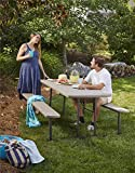 COSCO 87902GRY1E Outdoor Living 6 ft. Folding