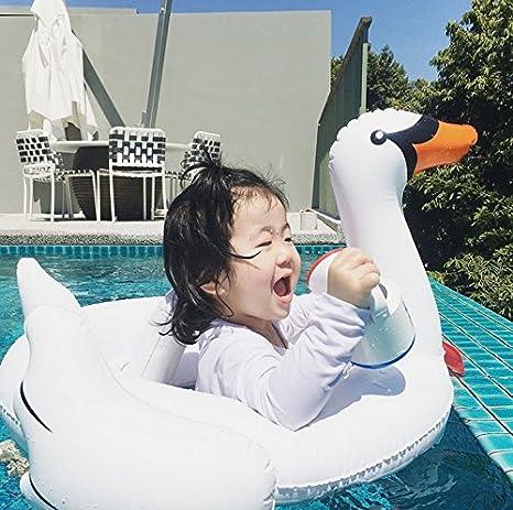 Happy grocery shop Niños encantadores Que nadan el Anillo Cisne Blanco/Flamingo Piscina Inflable Flotador