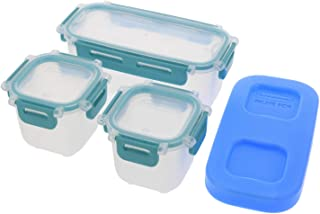 product image for Rubbermaid Lunch Blox Snack Kit - Lunch Box Food Containers - Comes with 1 Ice Pack, 2 Small, and 1 Long Container - Great for Kids Snacks, School Lunches, and Adult Meal Prep - Blue