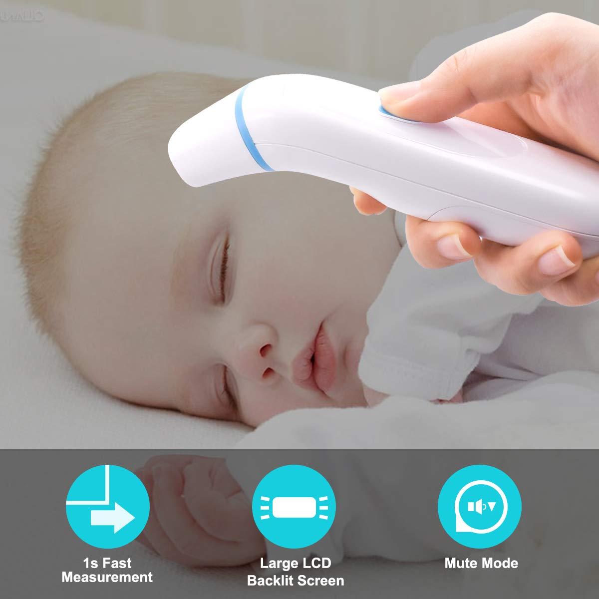 Amazon.com: Termómetro médico para frente y oído, termómetro ...