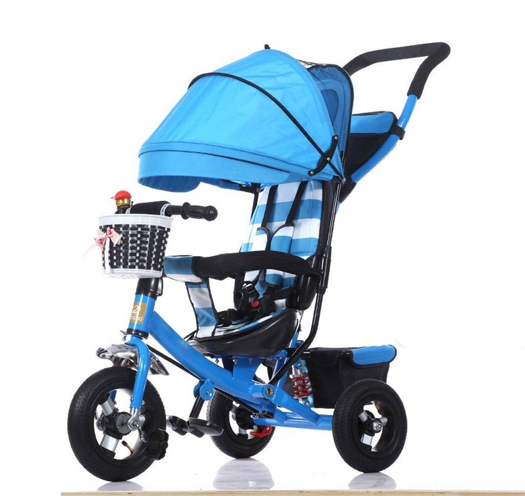 KANGR-子ども用自転車 三輪車の赤ちゃんキャリッジバイク子供のおもちゃの車のチタンの車輪/泡ホイールの自転車3ホイール、青の折り畳み式(ボーイ/ガール、1-3-5歳) ( 色 : B type ) B07BTY9P9C B type B type