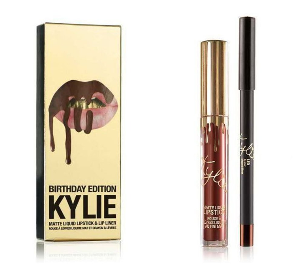 Kylie Jenner Limited Birthday Edition Matte Liquid Lipstick & Lip liner - LEO by Kylie Makeup Kylie Cosmetics