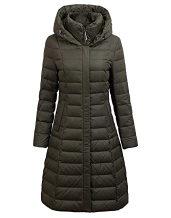 bd51c3e7927 UB-GSNY Womens Winter Down Cotton Hoody Coat Warm Coat Parka Puffer Jacket  Army Green