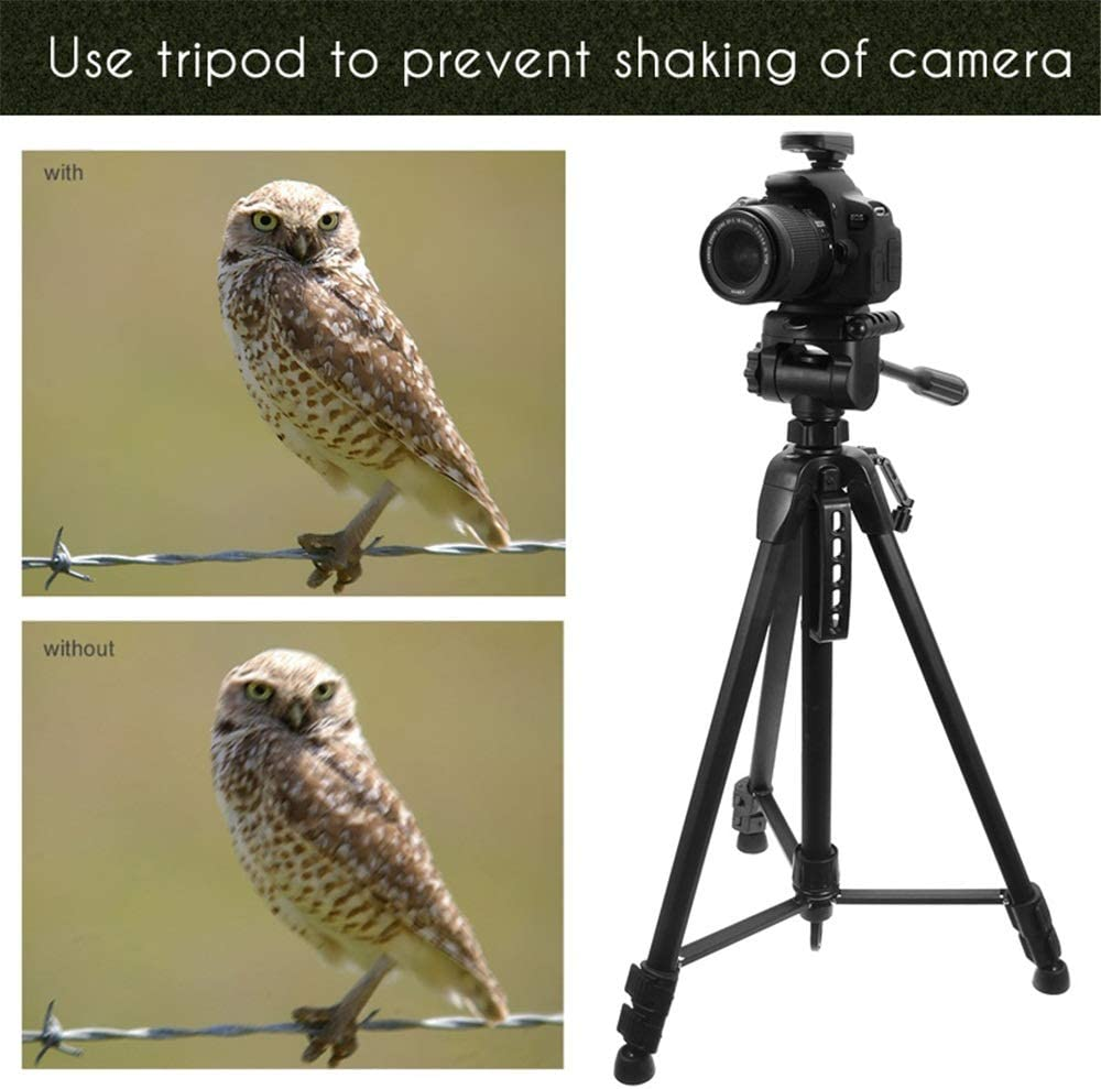 Professional Outdoor Aluminium Alloy Tripod for Camera for Travel and Work Color : Black, Size : One Size GQMNL Tripod Portable Photography Tripod