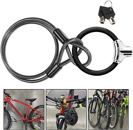 Large Application Acier et PVC pour serrures de Porte en Verre Produits antivol Verrous de v/élo Dispositifs de Verrouillage antivol Neel Antivol U-Lock Bike U-Lock