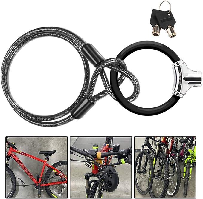 Bike U Lock with 3 Key Heavy Duty Bike Locks Scooter Lock Electric Scooter Lock Bicycle Lock with 4FT//1.2M Bike Lock Cable Lock Specialized Bike Accessories Ulock for Folding Bicycle