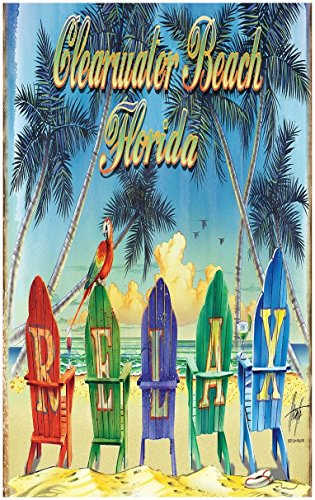 Relax Chairs Clearwater Beach Florida Travel Art Print Poster by Jim Mazzotta (30
