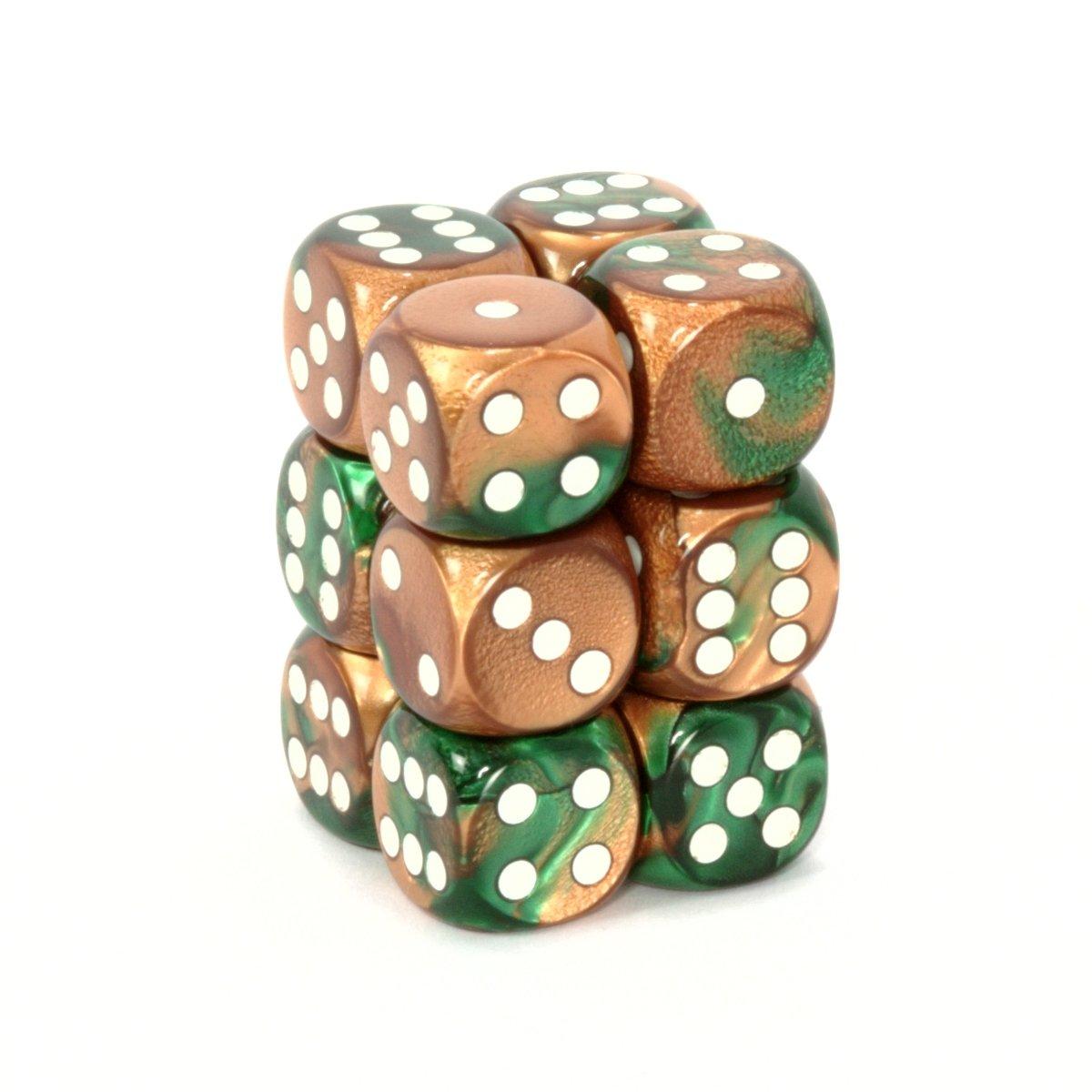超特価SALE開催! Chessex Dice d6 B001EYYAVQ Sets: Gemini Copper & Green of Block with White - 16mm Six Sided Die (12) Block of Dice B001EYYAVQ, BULL BOO:54849dd0 --- cliente.opweb0005.servidorwebfacil.com