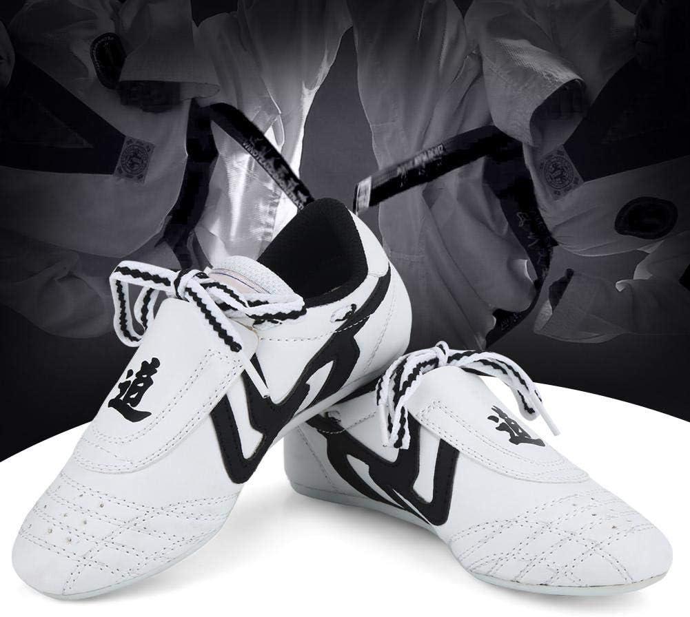 Karate Zapatos de Tai Chi Zapatillas de Deporte Kung fu Zapatillas de Rayas Negras. Artes Marciales Zapatos de Taekwondo