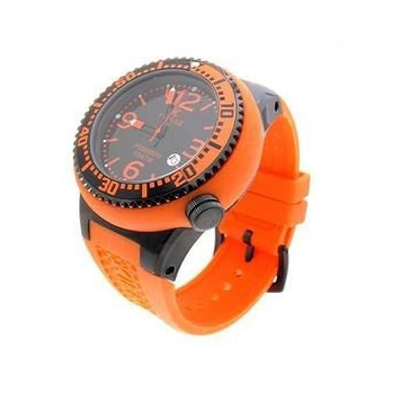 Reloj Kienzle Poseidon 720/3057 al cuarzo (batería) acero quandrante negro correa silicona