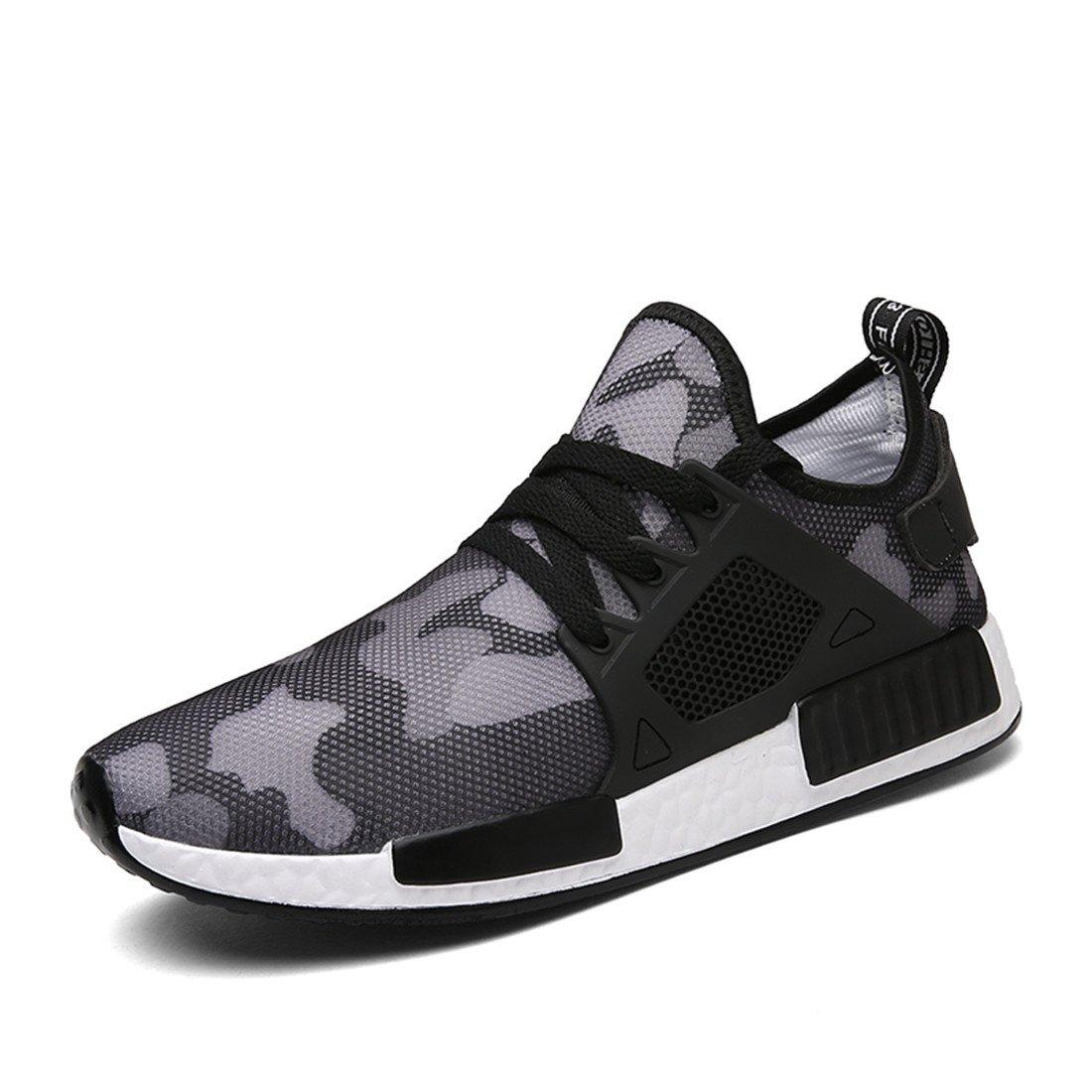ABeno Men Running Shoes Lightweight Couples Fashion Hit Color Sports Shoes B0757JBNML 11.5 D(M) US|Grey