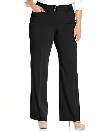7fef0b2abc2 Alfani Plus Size Curvy-Fit Slimming Bootcut Pants at Amazon Women s ...