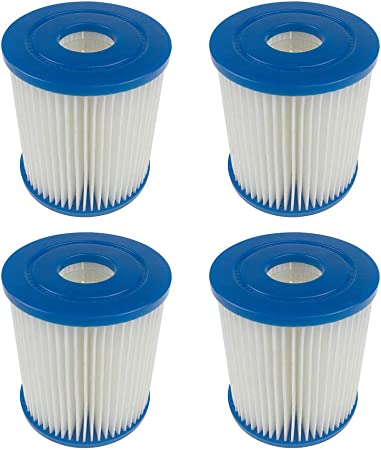 Panthem Summer Waves Pool Papie - Cartuchos de filtro de cartucho de papel tipo I (4 unidades)