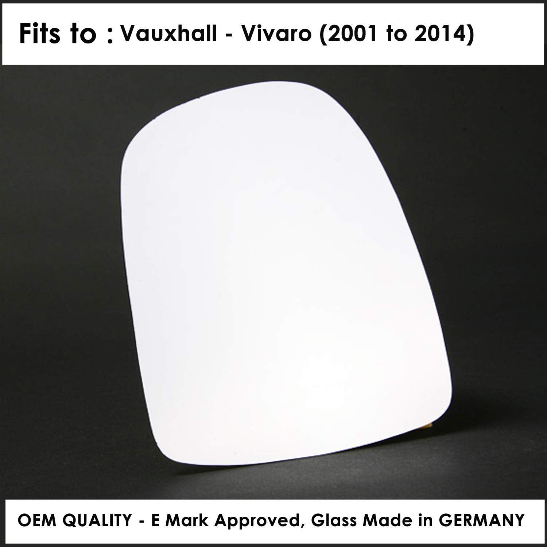 Opel Vivaro Außenspiegel Glas Silber Rechts Rechte Seite 2001 Voran Auto
