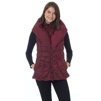 Ciao Milano Christina L Womens Jacket Burgundy at Women's Coats Shop