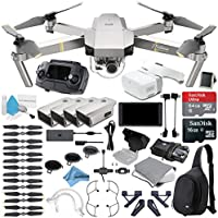 Platinum DJI Mavic Pro Quadcopter Drone + FPV Headset and DJI Crystal Sky 5.5 Screen Combo
