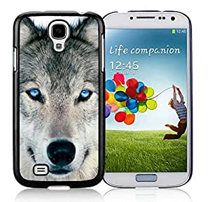 Graceful Wolf S4 Case for Girls Best Samsung Galaxy S4 I9500 Case Black Mobile Phone Cover