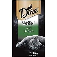 DINE Chicken Terrine Cat Wet Food, Adult, 7 x 85g