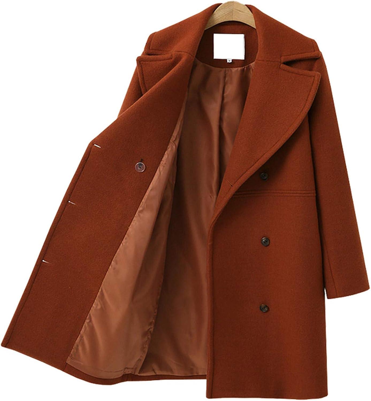 Carol Chambers Winter Women Coats Casual Jackets Long Sleeve Blazer Outwear Double Breasted Overcoat Female Topcoats New