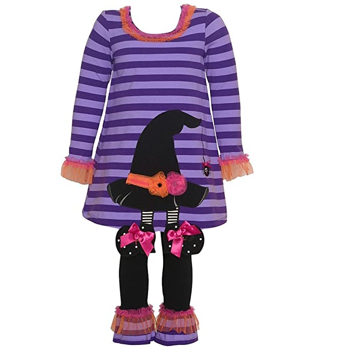 New Toddler Girls Rare Editions Witch Fall Halloween Dress Outfit 18 MO 2T 3T 4T