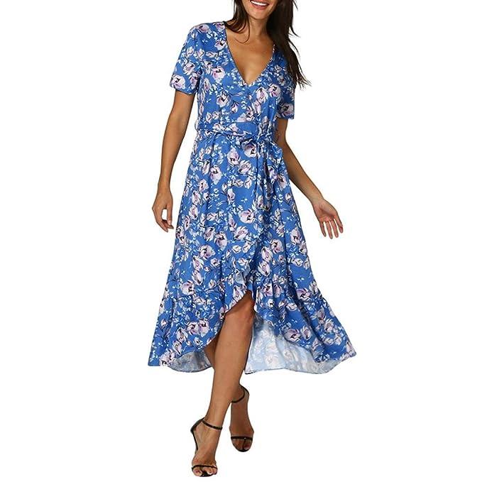 Kleider Damen Dasongff Frauen Retro Kleider Print Floral V ...