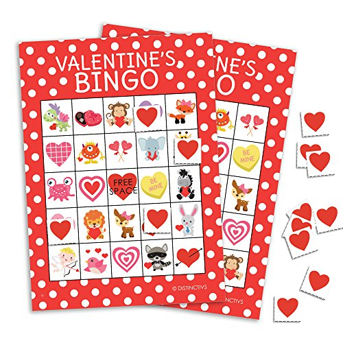 Valentine's Day Bingo Game for Kids - 24 (Valentines Bingo)