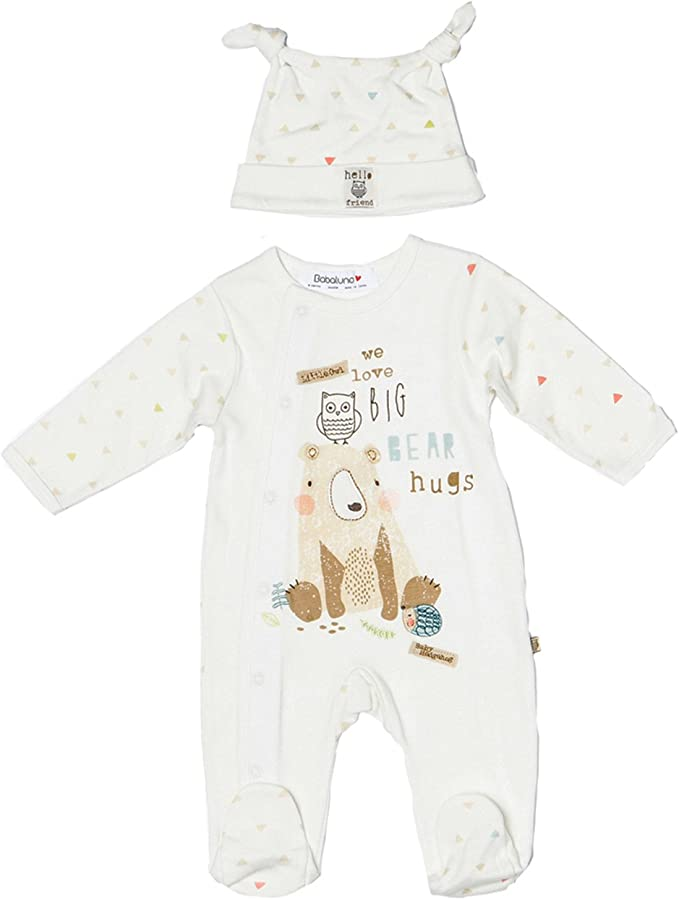All In One with Matching Hat Babies Unisex Christmas Sleepsuit