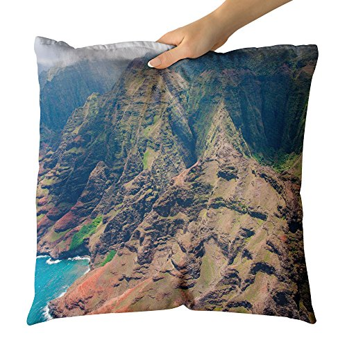 Westlake Art - Mountain Coastal - Decorative Throw Pillow Cushion - Picture Photography Artwork Home Decor Living Room - 18x18 Inch (74D4C)