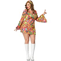 Sexy Hippie Chick Plus Size Costume
