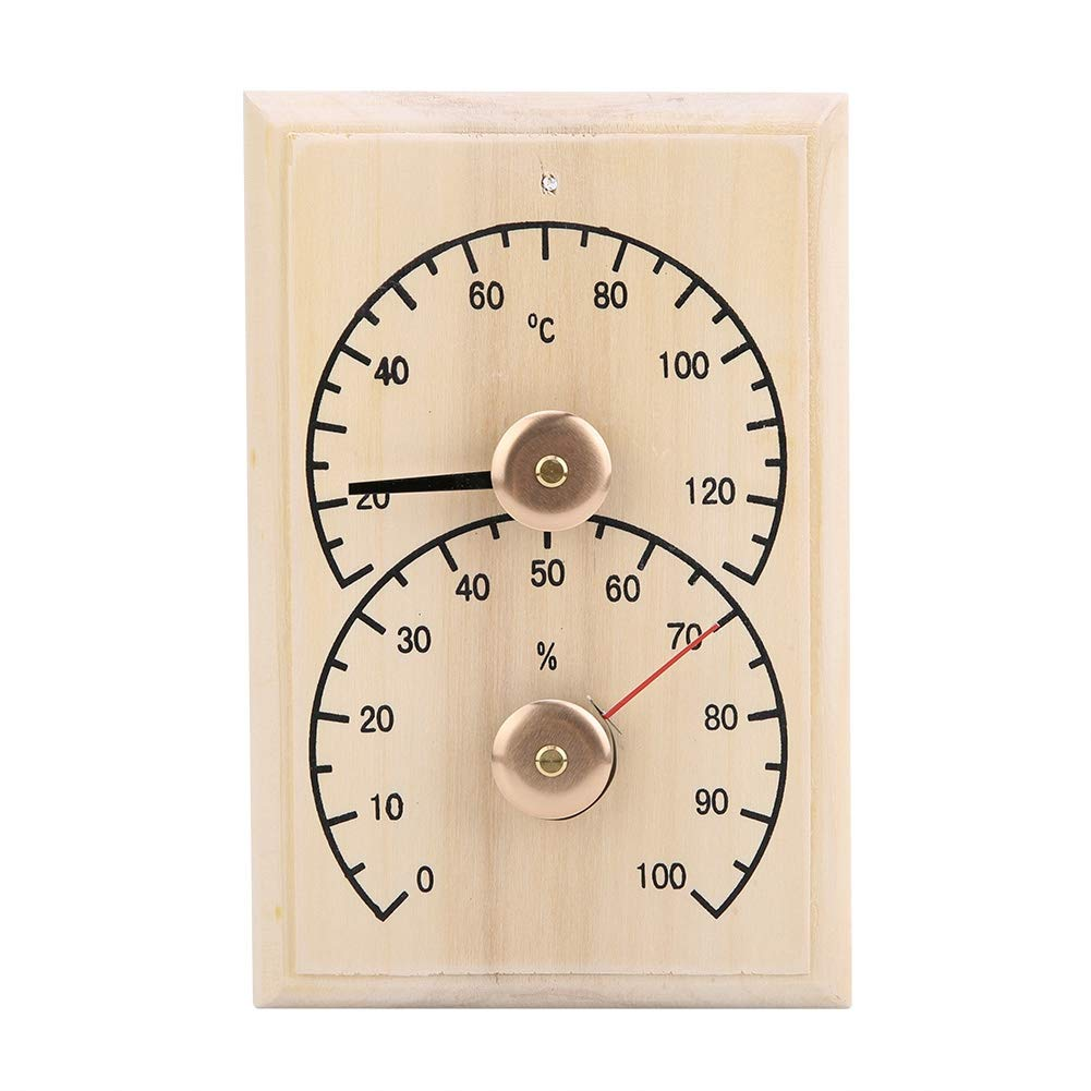 Badezimmer Saunaraumthermometer Holzdigitales Thermometer