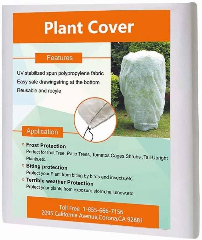 """Agfabric Plant Covers Freeze Protection - 0.95oz 34""""x 28"""" Frost Cover, White Shrub Cover for Winter Frost Protection, Season Extension"""