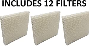 Humidifier Filter for Honeywell HAC-801 HAC801 HCM-3060 HCM-88C - 12 Pack