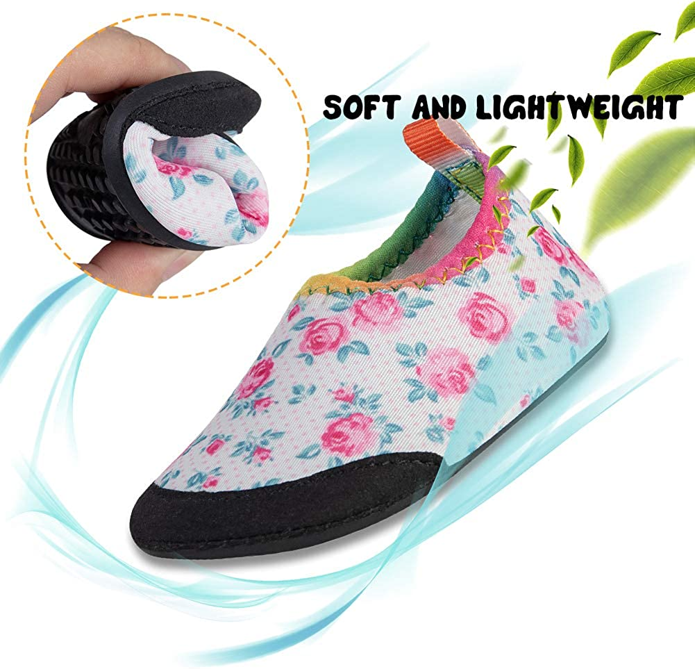 LZ Boys Girls Water Shoes Baby Aqua Socks Shoes Quick Dry Swim Shoes Toddler Beach Shoes