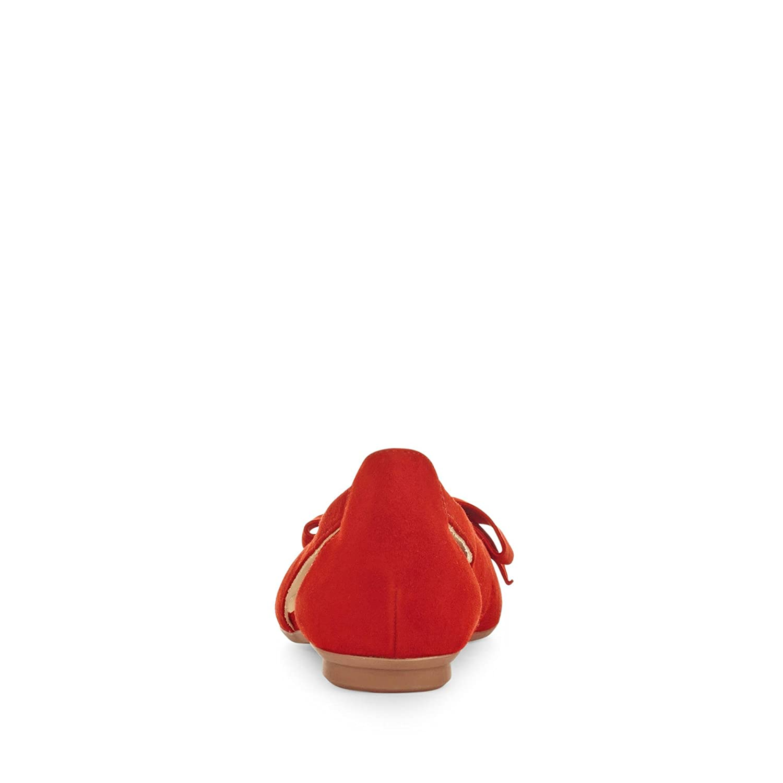 3631-052 Rot Damen Ballerina Schleifen-Applikation Dezente Laufsohle Rot 3631-052 d361db