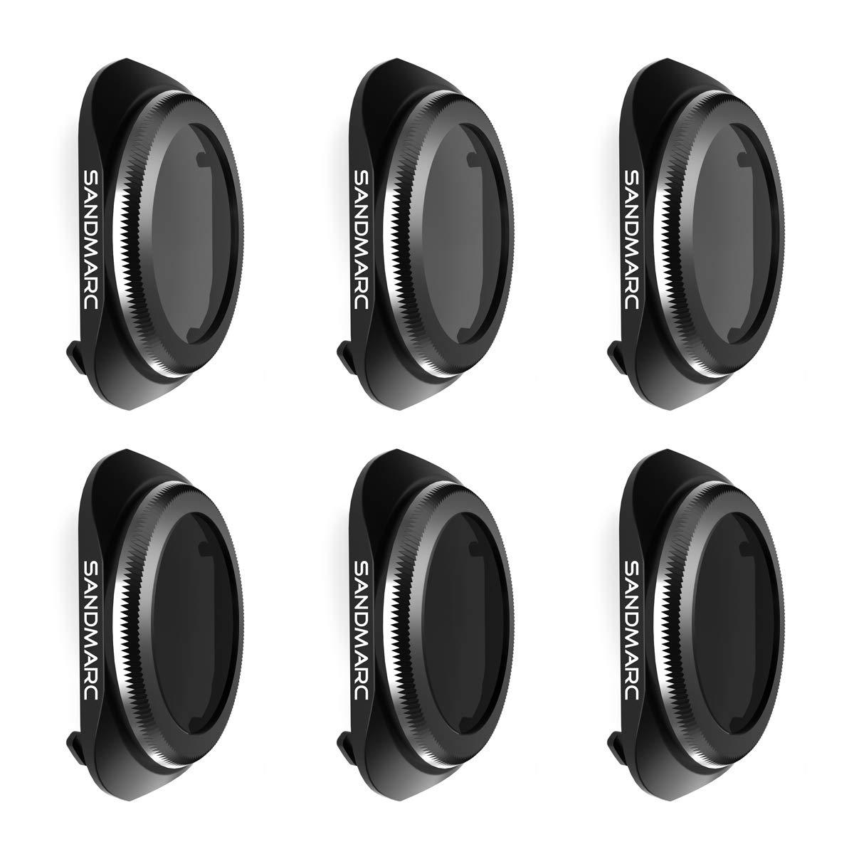 SANDMARC Pro Plus Filters for DJI Mavic 2 Pro (6-Pack) - PL, ND4/PL, ND8/PL, ND16/PL, ND32/PL & ND64/PL Filter Set by SANDMARC