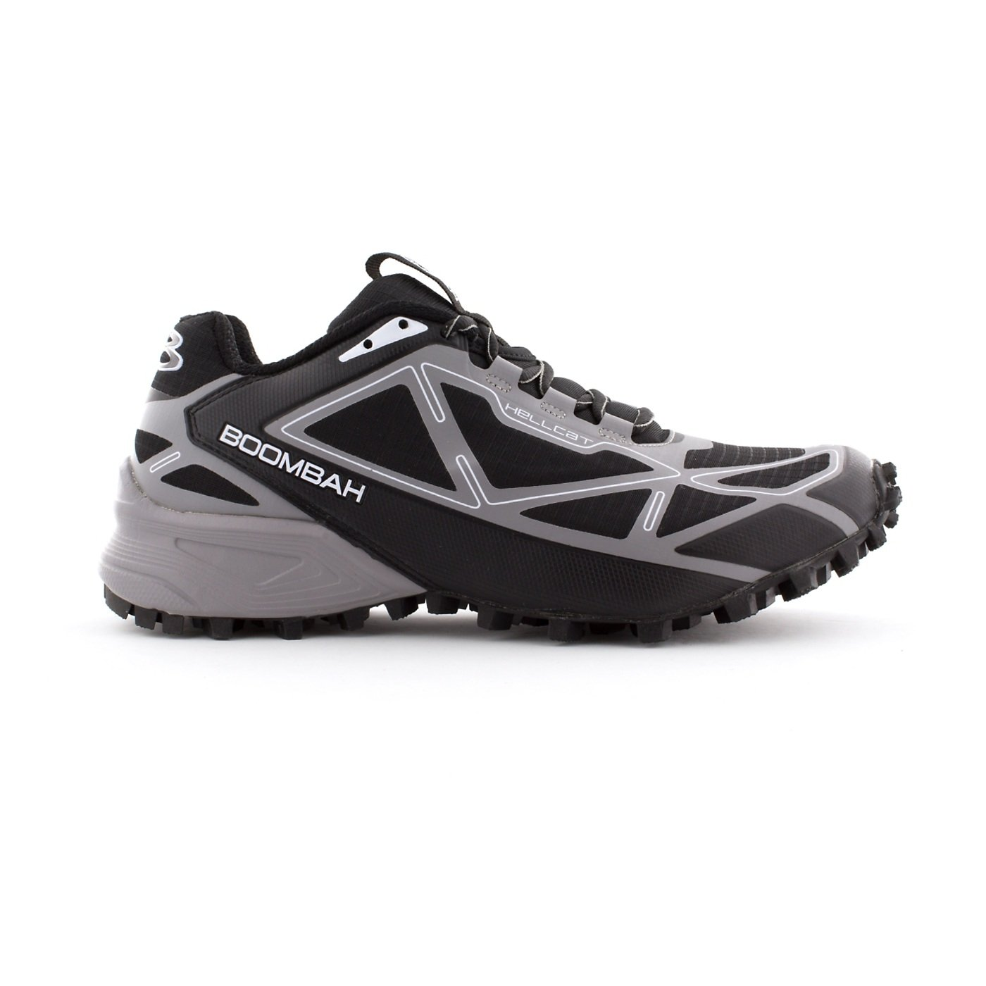 Boombah Men's Hellcat Trail Shoe - 14 Color Options - Multiple Sizes B073X6MJ5P 14|Black/Gray