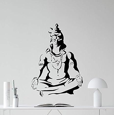 Amazon.com: Shiva Dios adhesivo de pared indio dioses vinilo ...