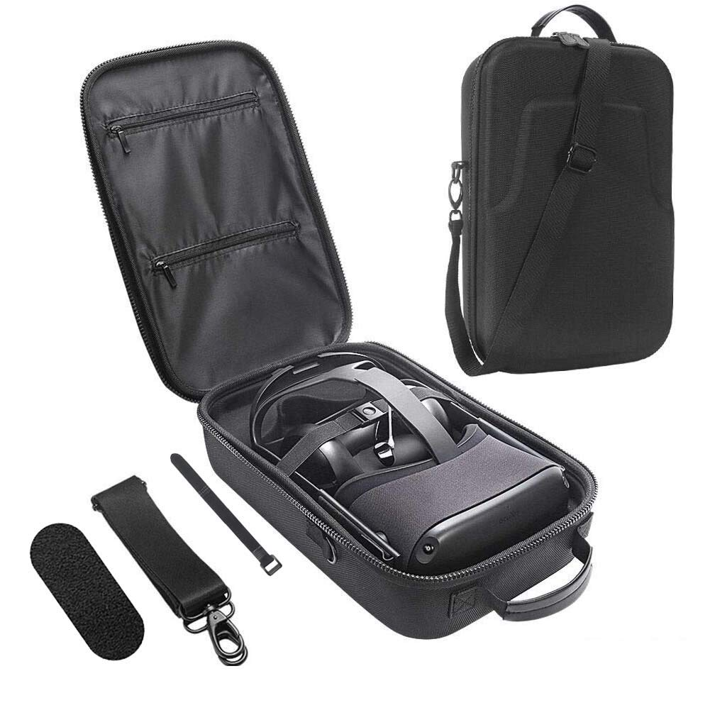 Hard Travel Case for Oculus Quest VR Gaming Headset and Controllers Accessories Waterproof Shockproof Carrying case…