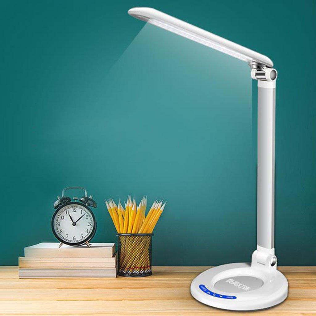Silber Schreibtischlampe Tischlampe, LED Tischlampe Verstellbare Licht Touch Augenpflege, Kinderaugen, 6 Pole Dimmen (Farbe   Silber)