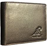 Mt. Eston RFID Blocking Trifold Bifold Mens Leather Wallet, 18 Pocket Extra Capacity, High-End Build, Gift Box for Men (Previously Mt. Everest)
