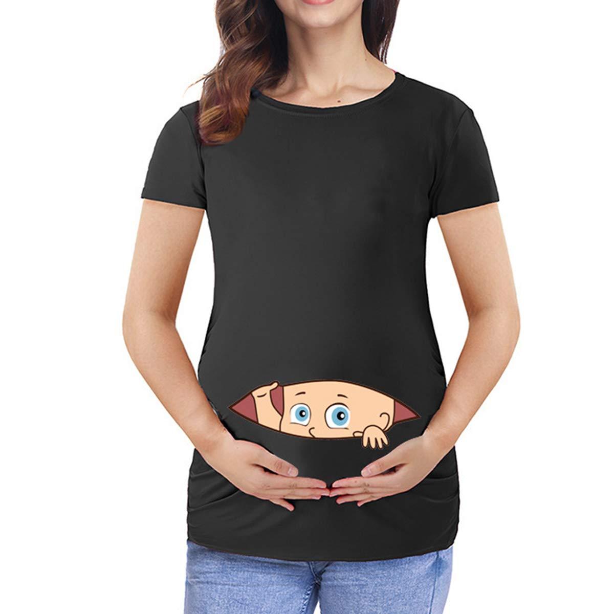 Q.KIM T-Shirt de Maternit/é Femme Maternit/é Grossesse Amusant Humour Imprim/é-Hi s/érie