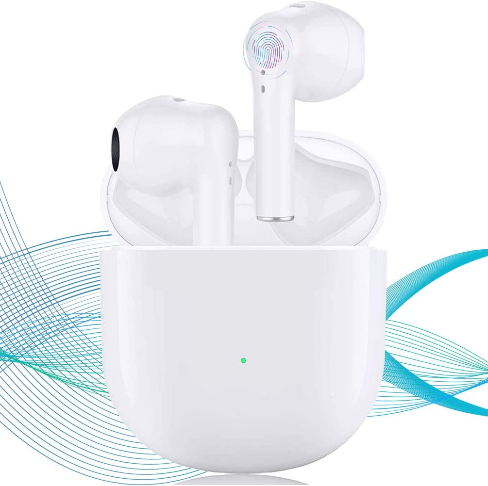 Wireless Earbuds Bluetooth 5.0 Headphones Fast Charging 3D Stereo Earbuds in Ear Earbuds with Built in Mic Noise Reduction Function, Suitable for Apple Airpods iPhone/Android/Samsung Earbuds