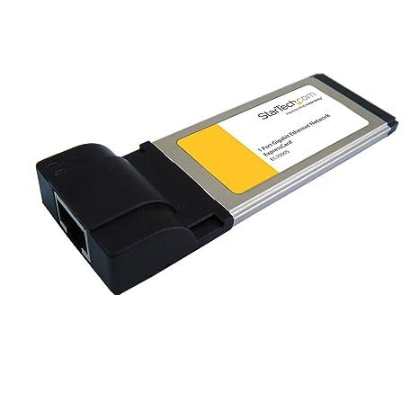StarTech.com 1 Port ExpressCard Gigabit Laptop Ethernet NIC Network Adapter Card (EC1000S)