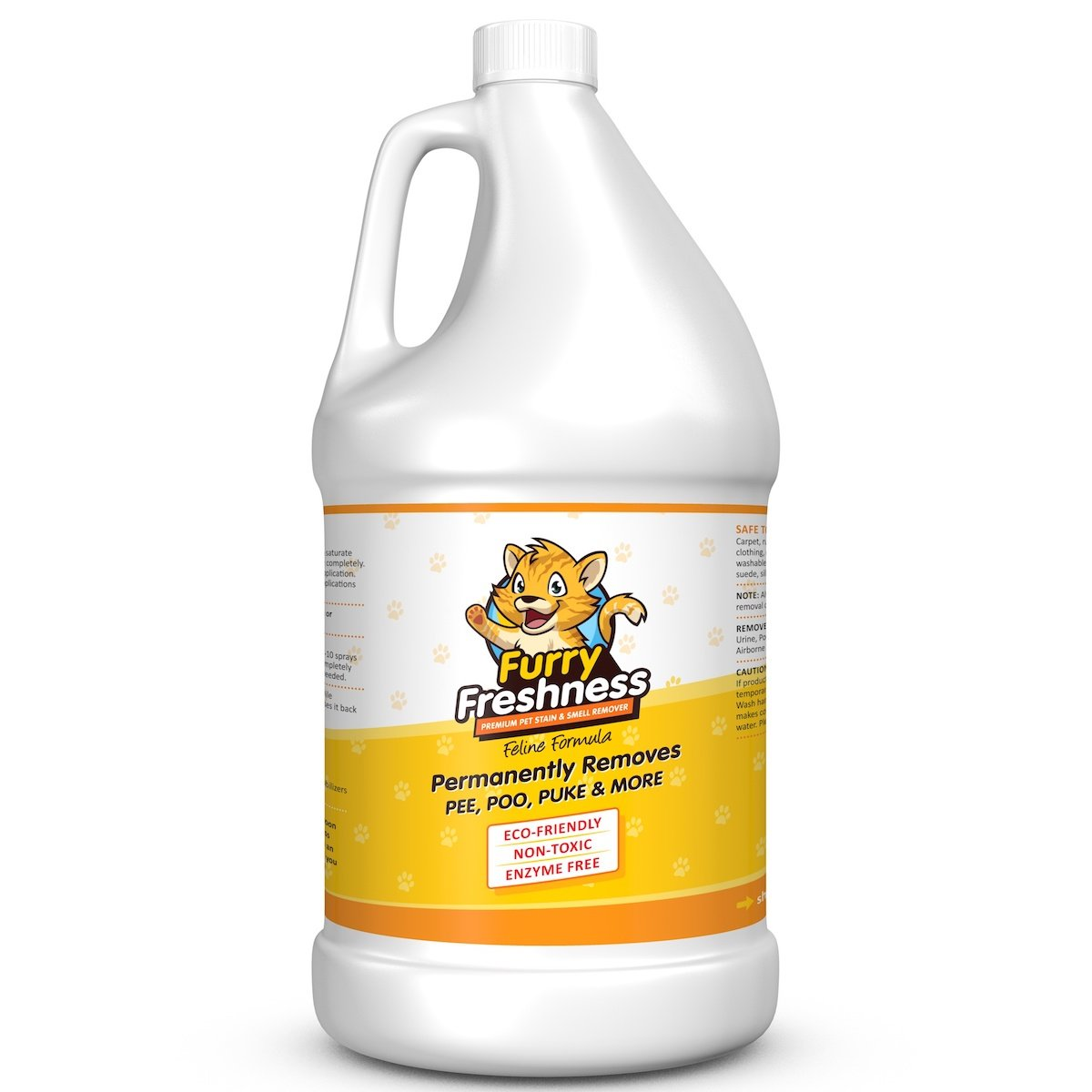 FurryFreshness Premium Pet Stain & Smell Remover - Feline Formula (Gallon) by FurryFreshness