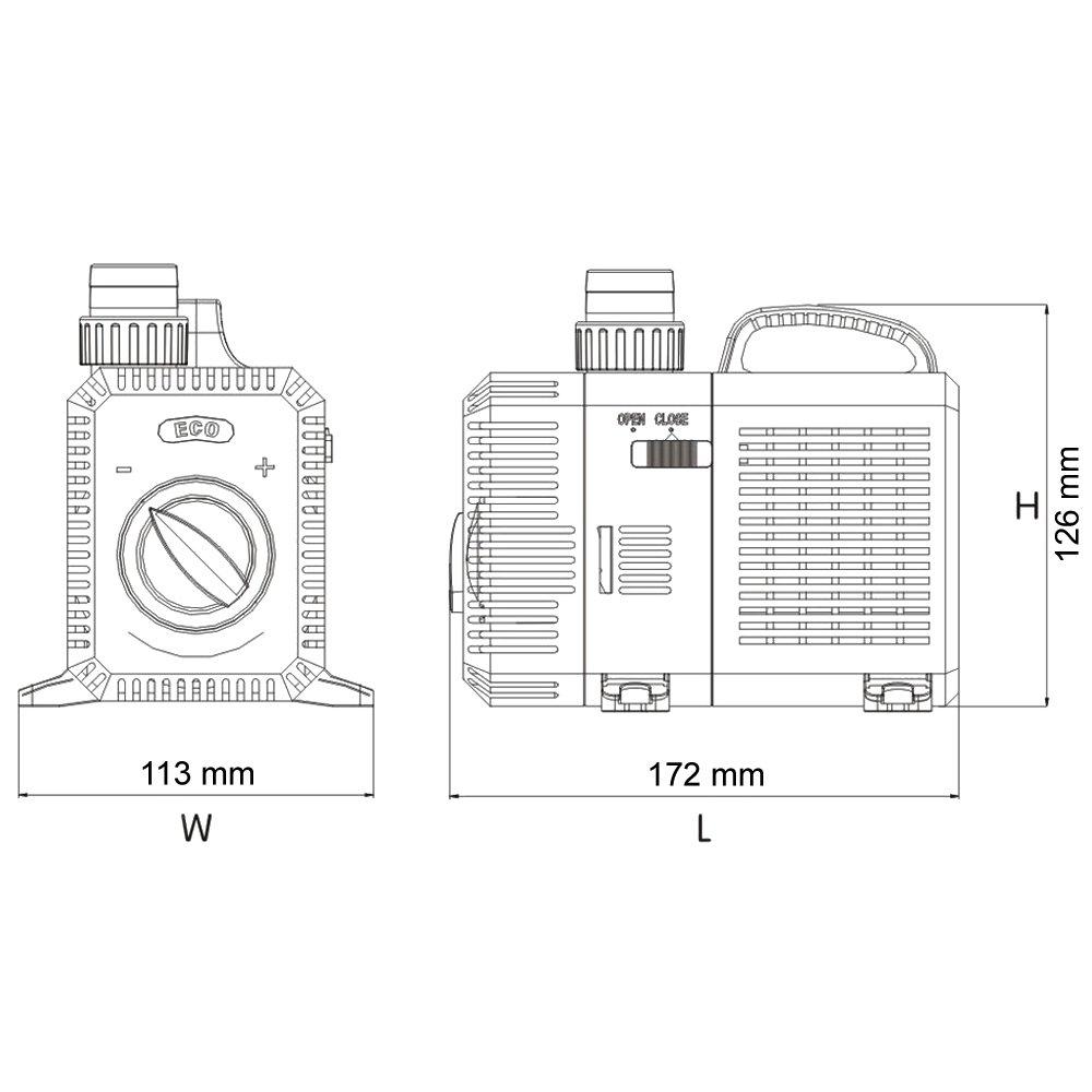 SunSun CTP-3800 SuperECO Teichpumpe Filterpumpe 3600l//h 20W