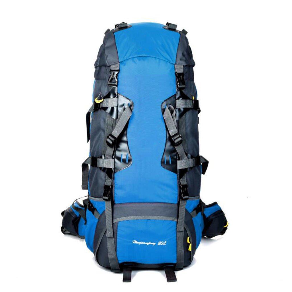 JBHURF Große Kapazität 80L Outdoor-Bergsteigen Tasche professionelles Tragesystem Gelb (Farbe : Sky Blau)
