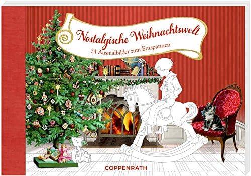 Nostalgische Weihnachtsmotive.Kreativbuch Nostalgische Weihnachtswelt 24 Ausmalbilder Zum